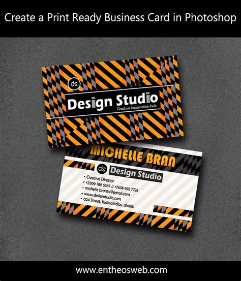 how to make a business card on photoshop learn how to create a print ready business card in