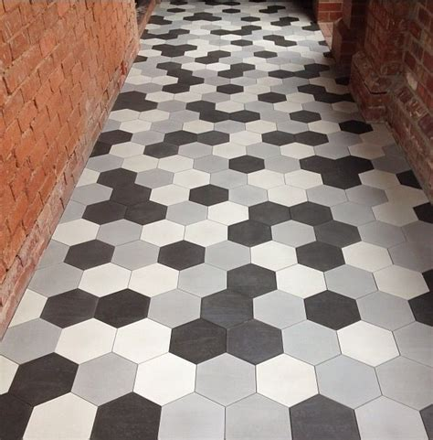 17 ideas about hexagon floor tile on pinterest black hexagon tile white bath inspiration and