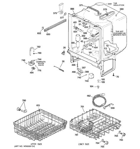 ge power 3 parts diagram ge dishwasher parts model gsd4060r15ss sears