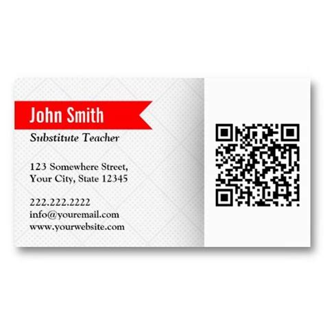 substitute cards templates 21 best substitute teaching business cards images on