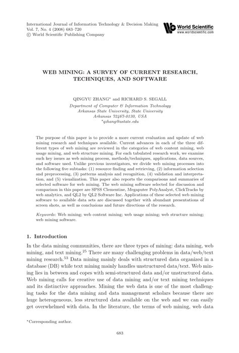 (PDF) Review of Data, Text and Web Mining Software