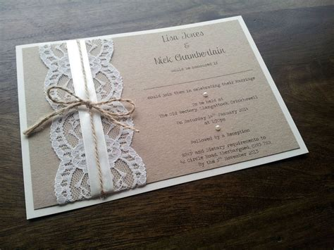 SAMPLE Personalised Handmade Vintage Chic Lace Wedding