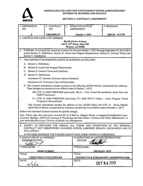 united healthcare ahcccs contract no yh14 0001 by iasis healthcare