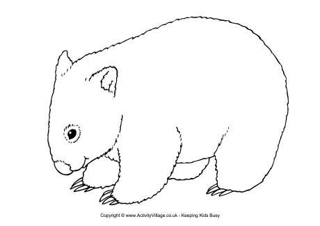 printable wombat mask wombat printables wombat colouring page wombats