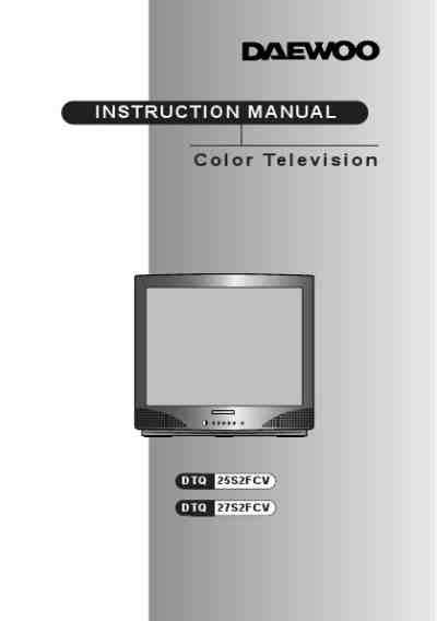 DAEWOO DTQ25S2FCV TV/ Television download manual for free