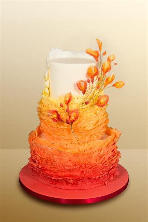 best 25 orange wedding cakes ideas on orange