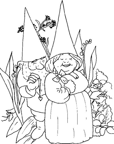 gnome coloring book coloring pages