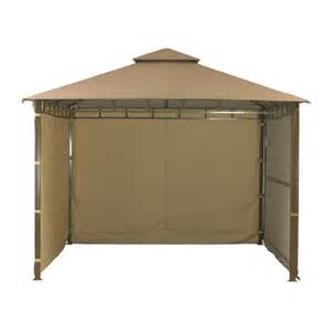 Outdoor Pergola Drapes Extending Mocha Gazebo With Side Curtains 33m On Sale