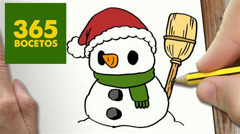 imágenes de navidad kawaii como dibujar un mu 209 eco de nieve para navidad paso a paso