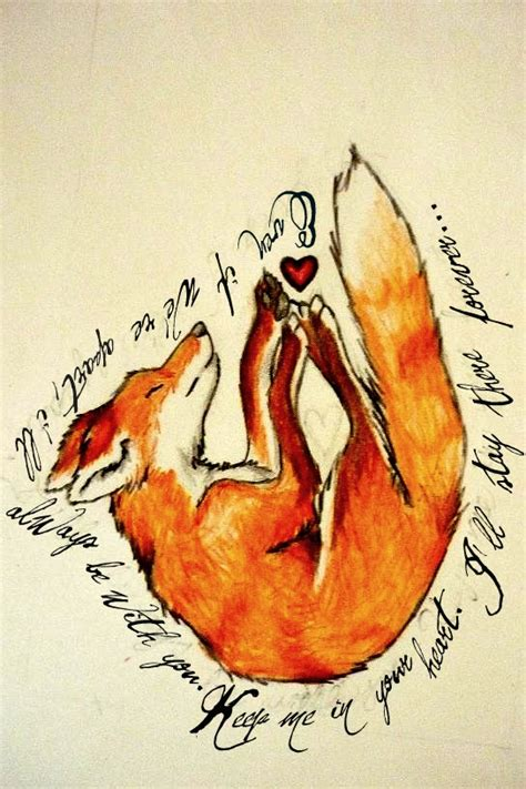 tattoo fox animal fox on pinterest fox tattoos watercolor fox and david