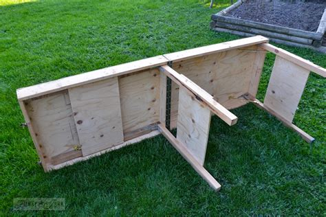 diy foldable table legs a portable collapsible workbench every diyer needsfunky junk interiors