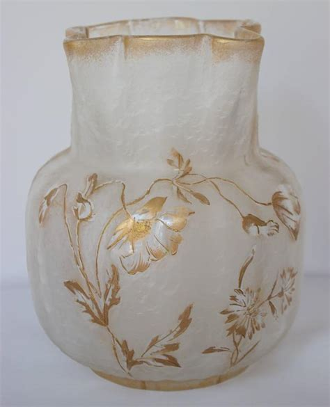 Francois Vase by Glass Vase By Francois Theodore T Legras Signed