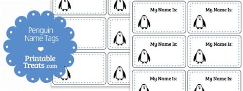 printable penguin name tags free printable penguin name tags