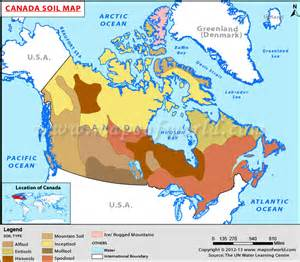 canada soil map soils of canada