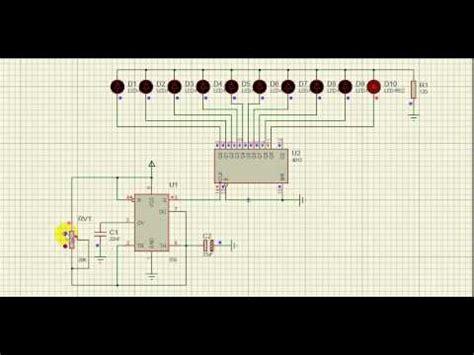 rangkaian dan layout running led rangkaian running led dengan ic 555 youtube