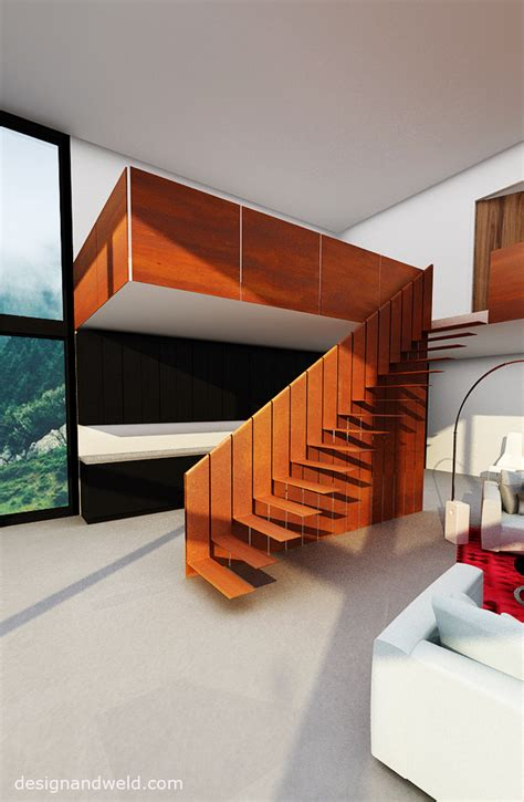 Home Stairs Design unique cor ten steel stairs c by www designandweld com