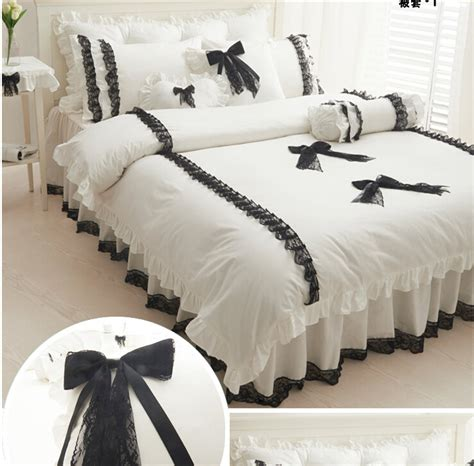 Black And White Lace Comforter by Wholesale Black White Lace Bedding Korean