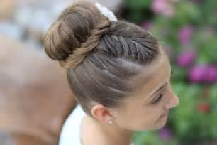 howtododoughnut plait in hair how to create a lace fishtail bun cute girls hairstyles
