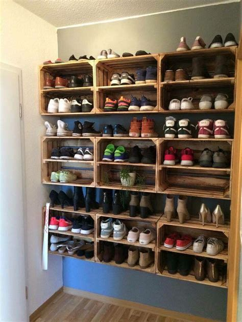 diy shoe storage for small 25 best ideas about shoe racks on diy shoe