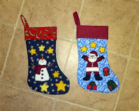 santa snowman christmas stockings by sher patterns