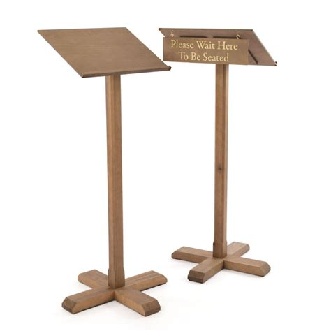 wait to be seated sign stand uk wooden menu lectern podium with seating sign