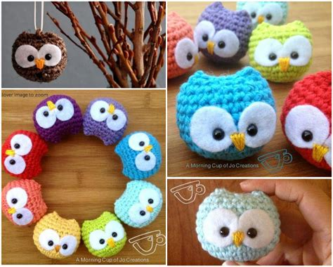 diy owl crafts diy crocheted owls with free patterns