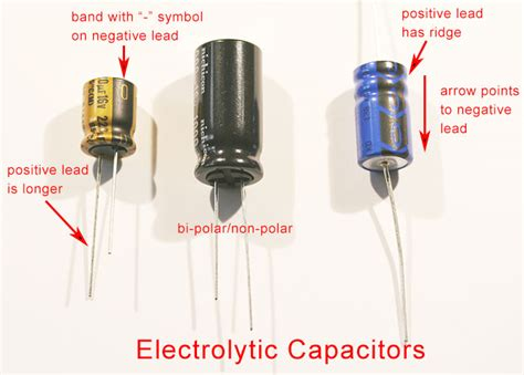 capacitor anode positive or negative elements mic pre