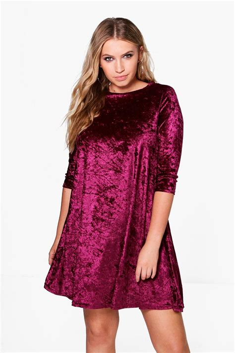velvet swing plus dani velvet swing dress at boohoo com