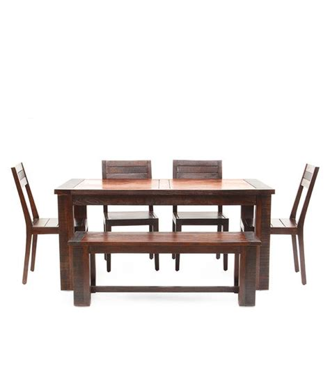 6 Seater Wooden Dining Set In Melamine Finish Buy 6 Seater Wooden Dining Set In Melamine Sheesham Wood 6 Seater Dining Set In Mahogany Finish Buy Rs Snapdeal