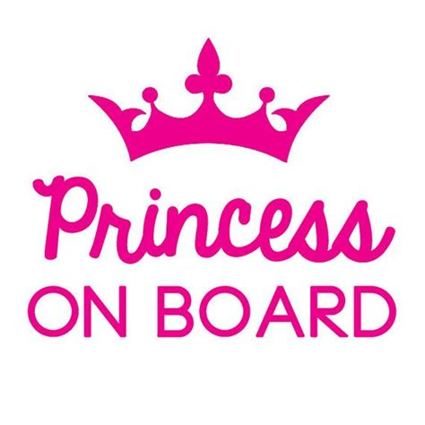 Baby Shower Cheap Ideas - princess on board decal car decal baby on board princess crown pageant zta zeta shops