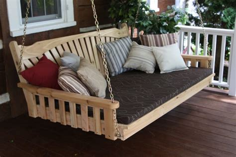 daydreaming outdoor beds centsational girl porch swing bed modern white stained wooden canopy swing