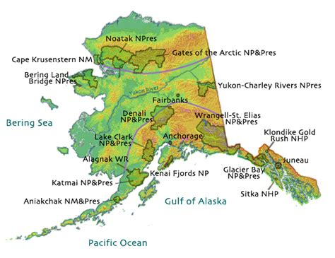 alaska mountain ranges map usgs geology and geophysics