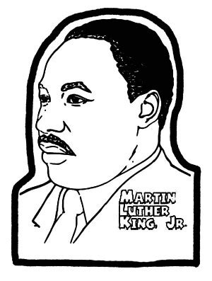coloring pages dr martin luther king jr martin luther king silhouette clipart best