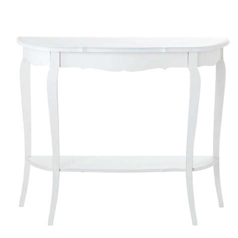 console maison du monde table console en bois blanche l 94 cm s 233 raphine maisons