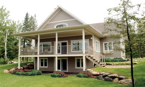 Waterfront Home Designs | waterfront house plans with walkout basement modern