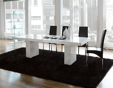 modern unico quasar marble coated dining table choice of