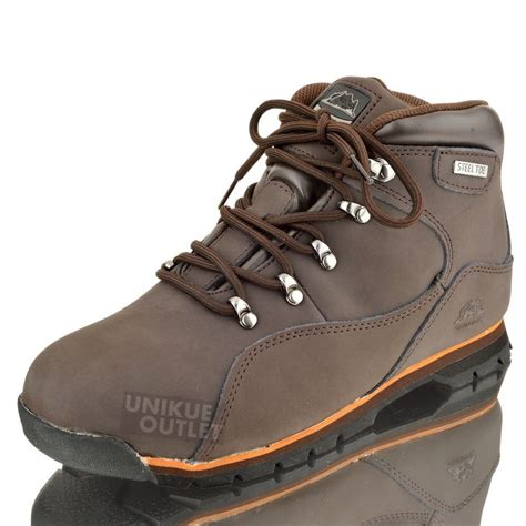 mens saftey steel toe cap work boots leather hiking