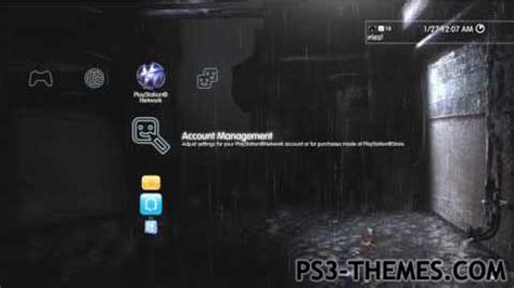 ps3 themes com ps3 themes 187 heavy rain dynamic theme