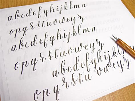 Calligraphy Letters Practice