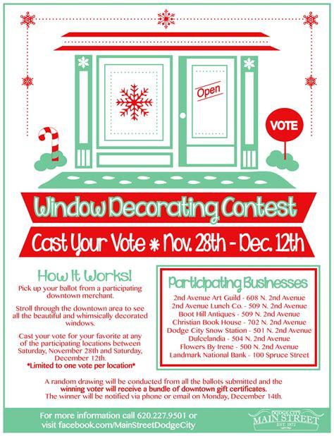 christmas contest voting flyer dodge city cvb ks