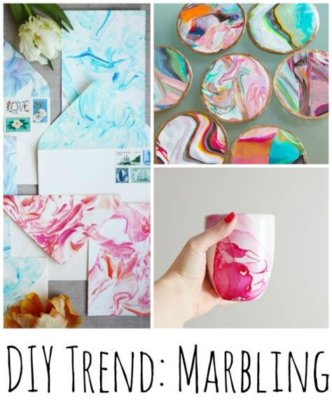 Things To Make With Paper And Glue - diy trend marbling crafts