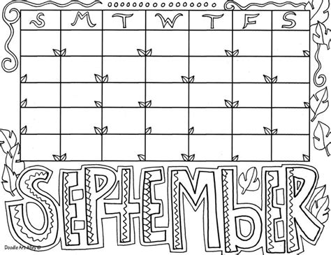 the doodle calendar 17 best images about month coloring on colors