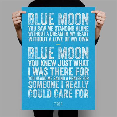 testo blue moon qual 232 l inno manchester city blue moon