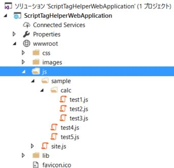 javascript glob pattern asp net coreのscripttaghelperについて調べてみる