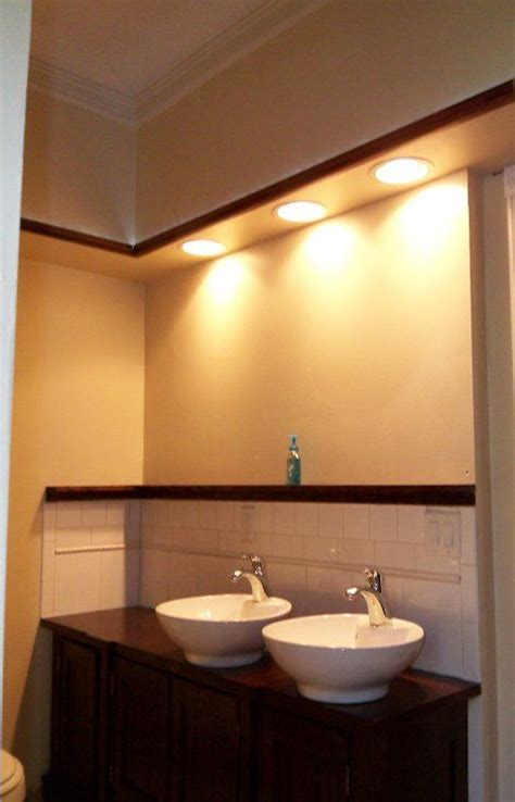 can lights in bathroom gorgeous bathroom sink soffit lighting modern design ideas