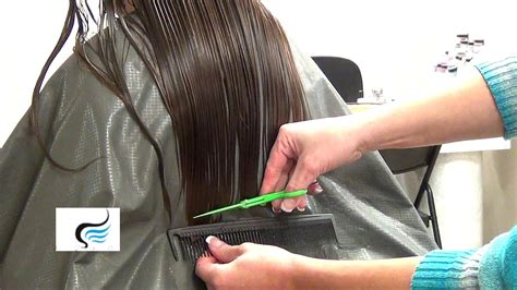 how to cut your hair straight across the back cut long hair straight across hairstyle youtube