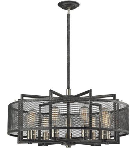 elk lighting 31239 9 slatington silvered graphite