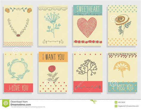 graphic design greeting card templates set of template design for greeting card stock