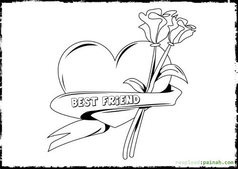 best friend coloring pages to print images