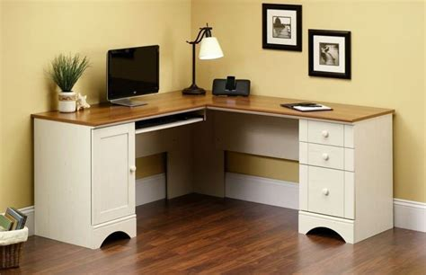 White Corner Computer Desks Sauder Corner Computer Desk For Home Office